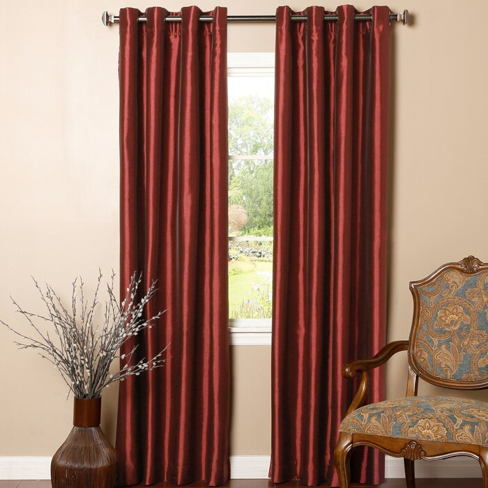 Alcalde Striped Faux Solid Blackout Thermal Grommet Curtain Panels Pertaining To Luxury Collection Faux Leather Blackout Single Curtain Panels (View 8 of 42)
