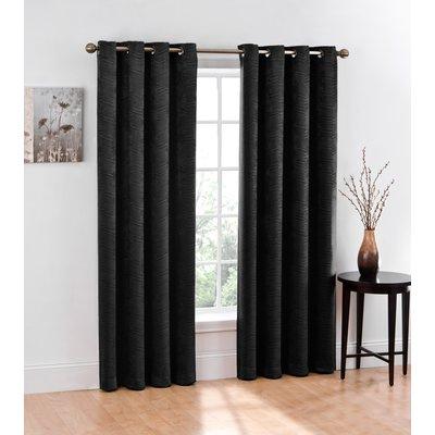 Alcott Hill Bangor Chevron Blackout Grommet Curtain Panels Within Chevron Blackout Grommet Curtain Panels (View 4 of 50)
