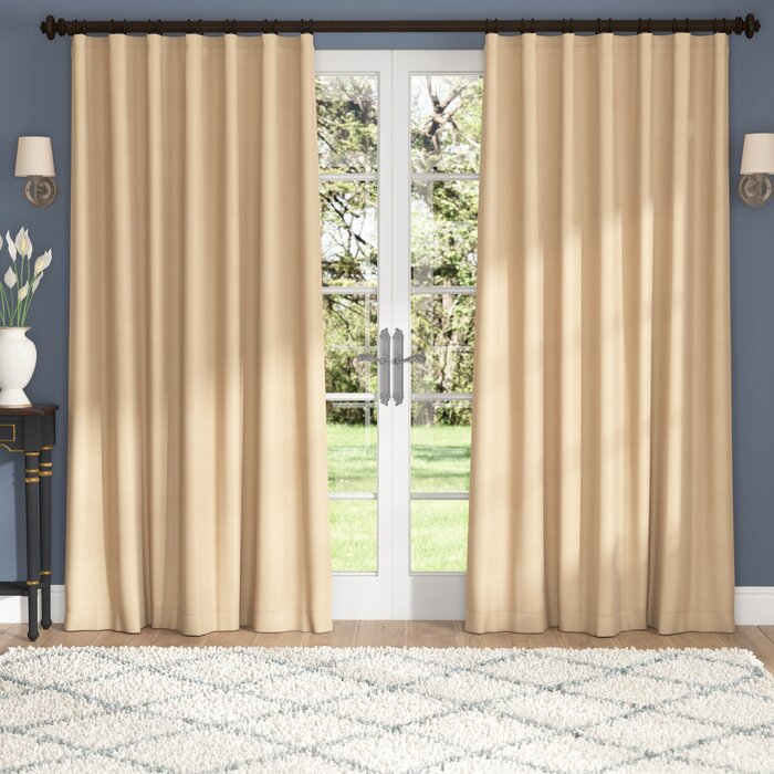Aldreda Extra Wide Solid Blackout Thermal Rod Pocket Single Curtain Panel Regarding Solid Cotton True Blackout Curtain Panels (#5 of 50)