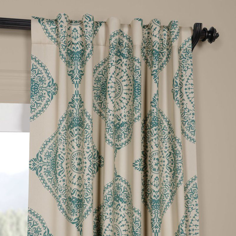 Alessandro Damask Blackout Thermal Single Curtain Panel Within Keyes Blackout Single Curtain Panels (View 9 of 50)