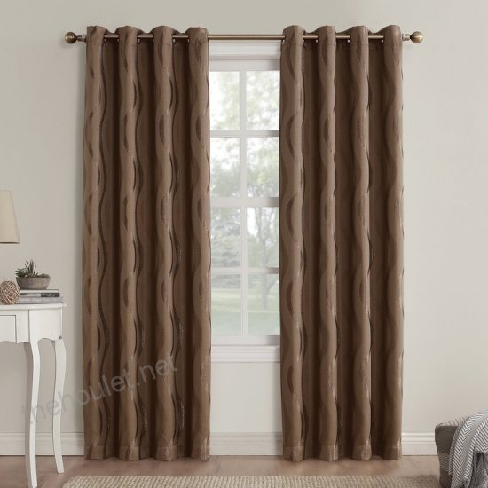 Alfred Geometric Blackout Grommet Single Curtain Panel Inside Kaiden Geometric Room Darkening Window Curtains (#3 of 39)