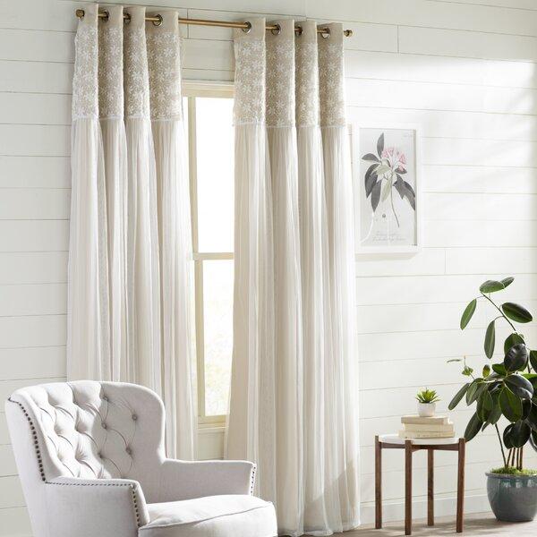 Alison Curtains | Wayfair Inside Alison Rod Pocket Lace Window Curtain Panels (View 3 of 44)