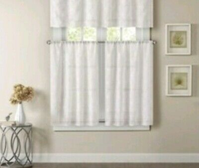 Alison Floral Lace Sheer Rod Pocket Valance Curtain Panel 58 With Alison Rod Pocket Lace Window Curtain Panels (View 5 of 44)