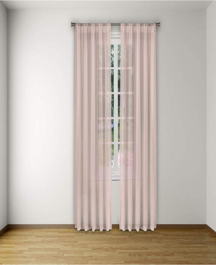 """Alison Pole Top Pair Panel 52"""" X 96"""" With Alison Rod Pocket Lace Window Curtain Panels (View 13 of 44)"""