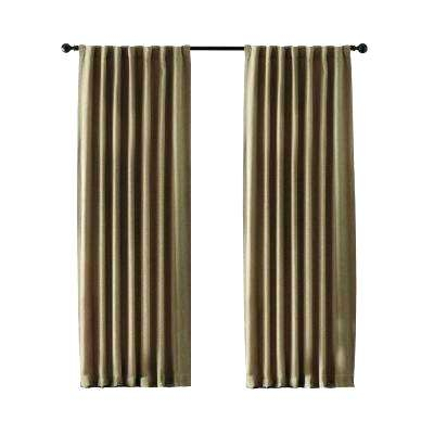 All Seasons Blackout Rod Pocket Back Tab Curtain Panel Regarding All Seasons Blackout Window Curtains (View 3 of 48)