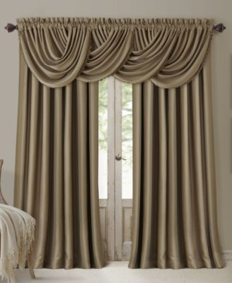 All Seasons Blackout Waterfall 52'' X 36'' Valance Within Elrene Versailles Pleated Blackout Curtain Panels (View 2 of 38)