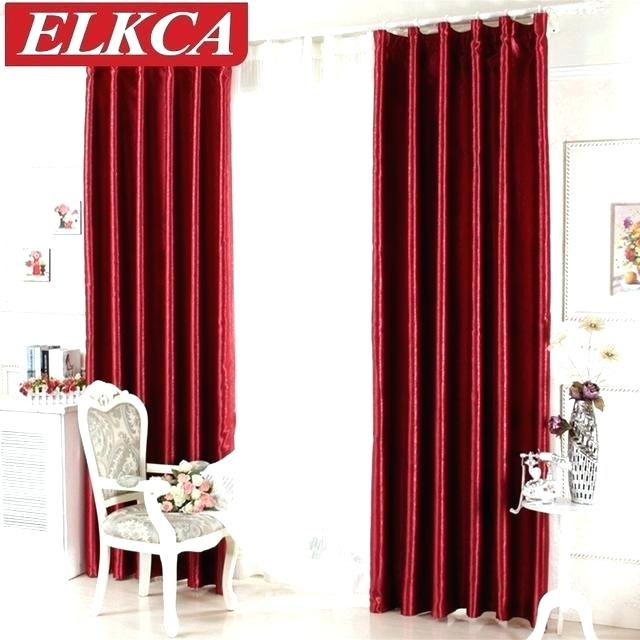 All Seasons Blackout Window Curtain Red Curtains Bathroom N Throughout All Seasons Blackout Window Curtains (View 7 of 48)