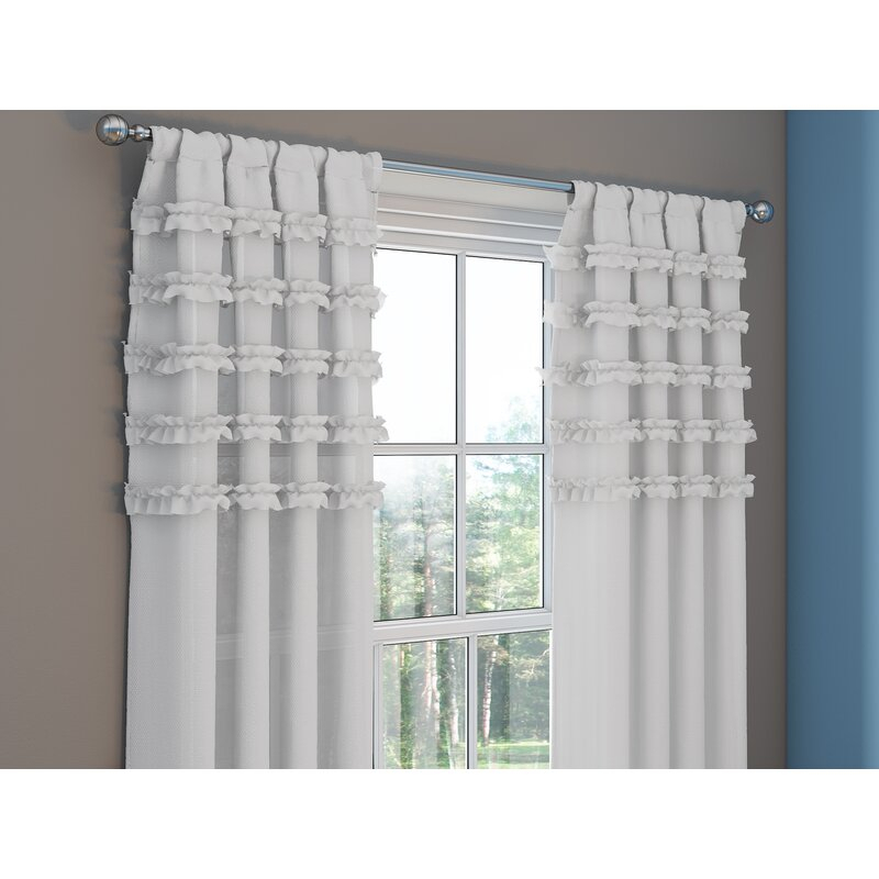Allman Striped Max Blackout Thermal Rod Pocket Single Curtain Panel With Regard To Single Curtain Panels (View 13 of 36)