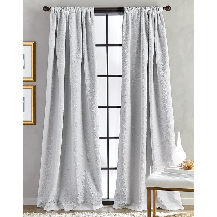 Alois Solid Room Darkening Thermal Rod Pocket Single Curtain Panel Pertaining To Single Curtain Panels (View 33 of 36)