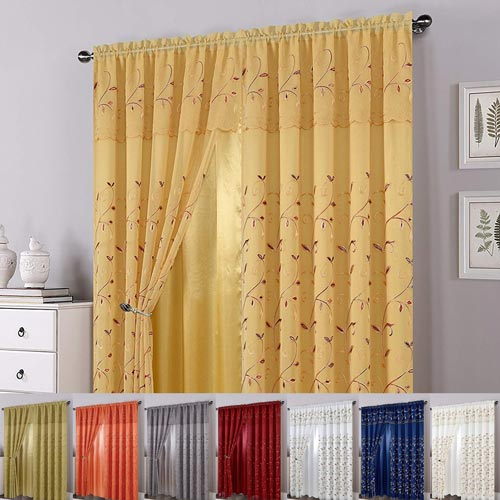 Alphabet Deal | Luxury Curtain/window Panel Set With Attache| Price : $ (View 1 of 50)