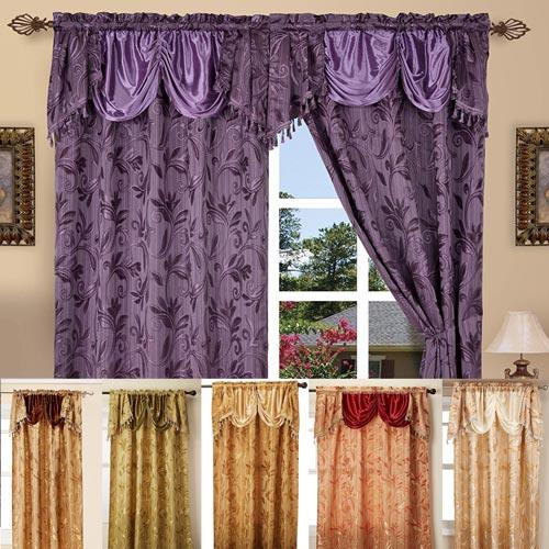 Alphabet Deal | Luxury Curtain/window Panel Set With Regarding Elegant Comfort Luxury Penelopie Jacquard Window Curtain Panel Pairs (View 2 of 50)
