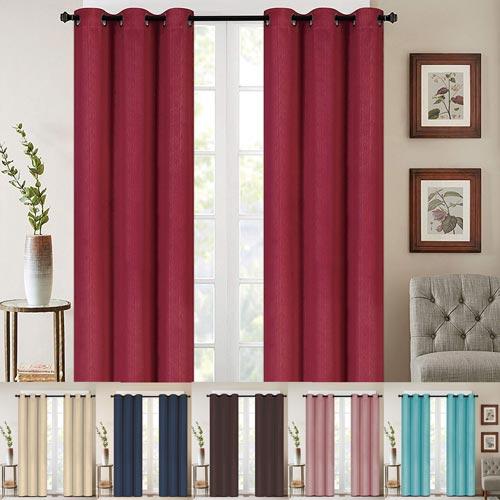 Alphabet Deal | Luxury Curtain/window Panel Set With With Regard To Elegant Comfort Luxury Penelopie Jacquard Window Curtain Panel Pairs (View 3 of 50)