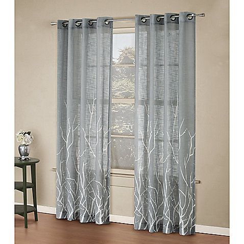 Alton Print Grommet Window Curtain Panel For Summer Within Grey Printed Curtain Panels (View 2 of 48)