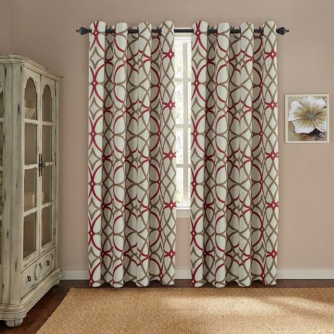 Popular Photo of Gray Barn Dogwood Floral Curtain Panel Pairs