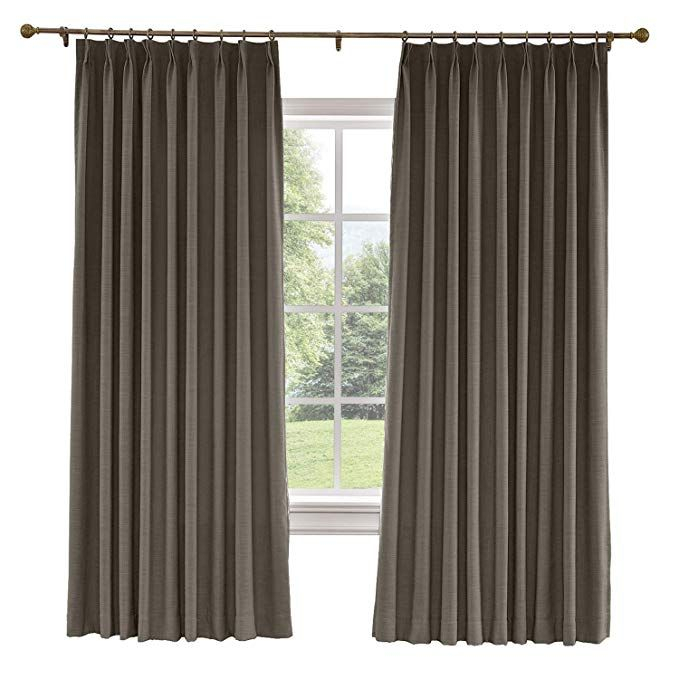 Amazon: Prim Bedroom Extra Wide Linen Curtains Drapes Within Faux Linen Extra Wide Blackout Curtains (View 6 of 50)