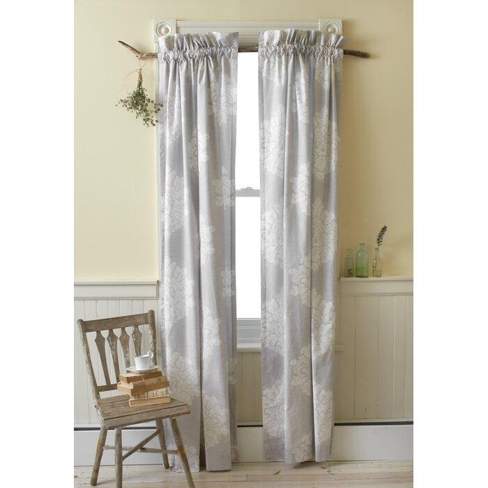 Amelia Rose Damask Rod Pocket Curtain Panels For Pastel Damask Printed Room Darkening Grommet Window Curtain Panel Pairs (#6 of 50)
