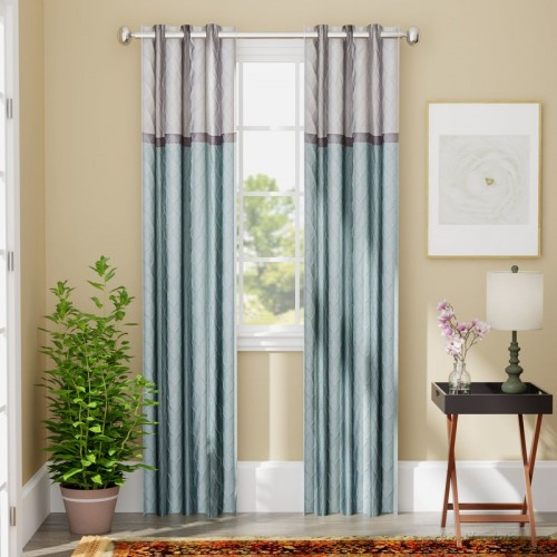 Andover Mills Rothsville Geometric Blackout Grommet Single Pertaining To Kaiden Geometric Room Darkening Window Curtains (View 5 of 39)
