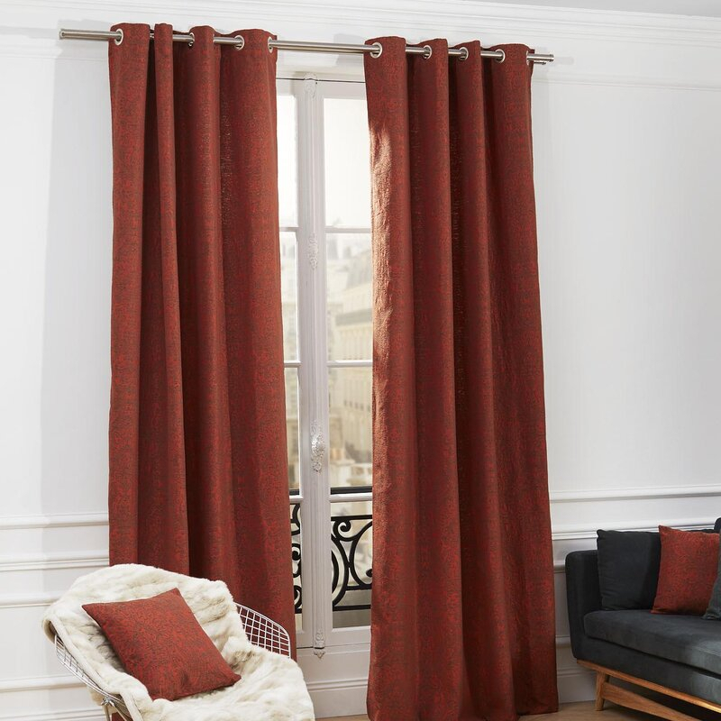 Anita Abstract Blackout Single Curtain Panel With Grommets Regarding Abstract Blackout Curtain Panel Pairs (#6 of 46)