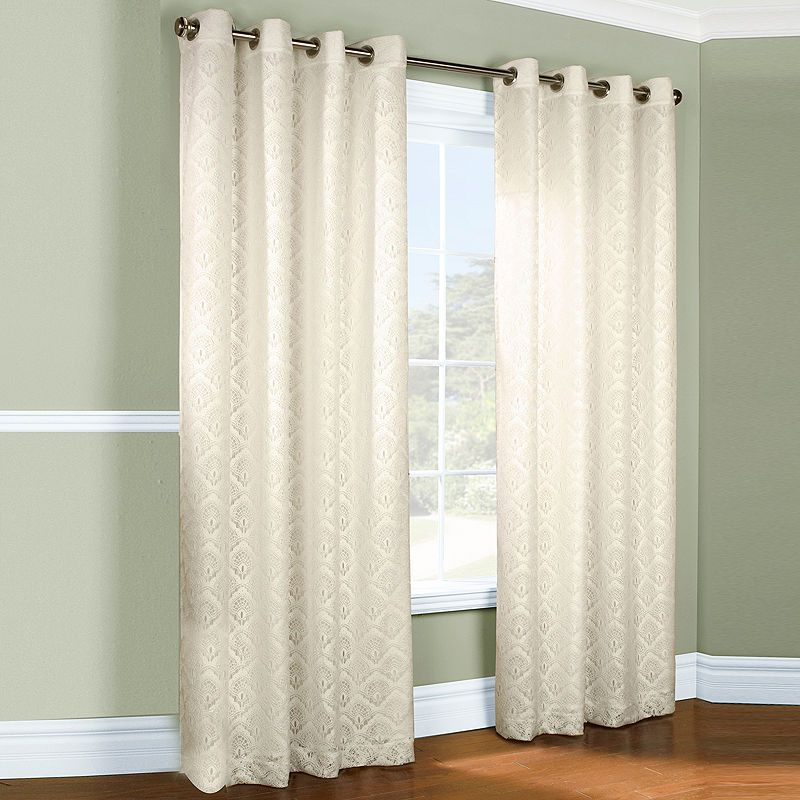 Anna Thermalace Grommet Top Curtain Panel | Products In Laya Fretwork Burnout Sheer Curtain Panels (View 31 of 38)