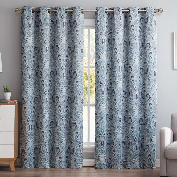 Annabel Paisley Curtains | Wayfair In Lambrequin Boho Paisley Cotton Curtain Panels (#5 of 41)