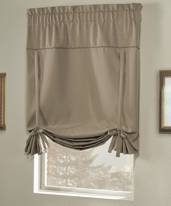 Another Great Find On #zulily! Taupe Blackstone Tie Up Shade With Regard To Prescott Insulated Tie Up Window Shade (View 25 of 45)