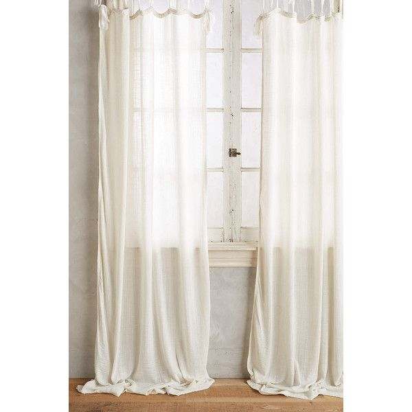 Anthropologie Cotton Tie Top Curtain ($68) ❤ Liked On With Regard To Elrene Jolie Tie Top Curtain Panels (#5 of 35)