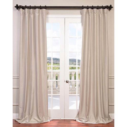 Antique Beige 120 X 50 Inch Blackout Faux Silk Taffeta Curtain Single Panel Throughout Faux Silk Extra Wide Blackout Single Curtain Panels (View 4 of 50)
