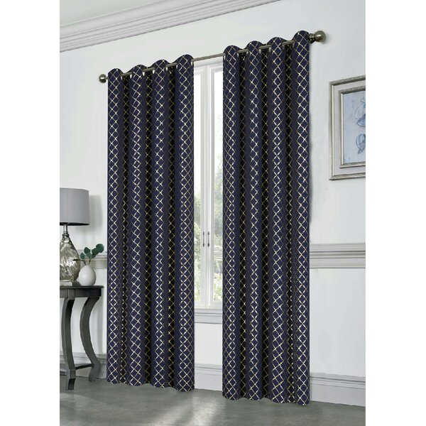 Antique Gold Curtains | Wayfair With Antique Silver Grommet Top Thermal Insulated Blackout Curtain Panel Pairs (View 4 of 40)