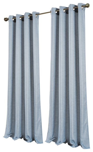 "Antique Silk Extra Wide And Long Window Curtain Panel Pair, 96""x110"", Silver Pertaining To Antique Silver Grommet Top Thermal Insulated Blackout Curtain Panel Pairs (View 5 of 40)"