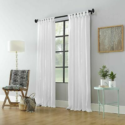 "Archaeo 100% Cotton Twist Tab Curtain 52""x84"" White 1 Panel Window Curtain  ~ Nwt Regarding Archaeo Washed Cotton Twist Tab Single Curtain Panels (View 10 of 21)"