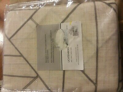"Archaeo 100% Cotton Twist Tab Curtain 52""x84"" White 1 Panel With Archaeo Jigsaw Embroidery Linen Blend Curtain Panels (#6 of 25)"