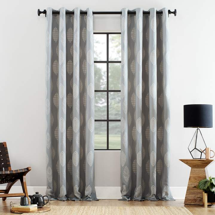Archaeo Herringbone Leaf Cotton Blend Window Curtain In 2019 Regarding The Curated Nomad Duane Jacquard Grommet Top Curtain Panel Pairs (#2 of 50)