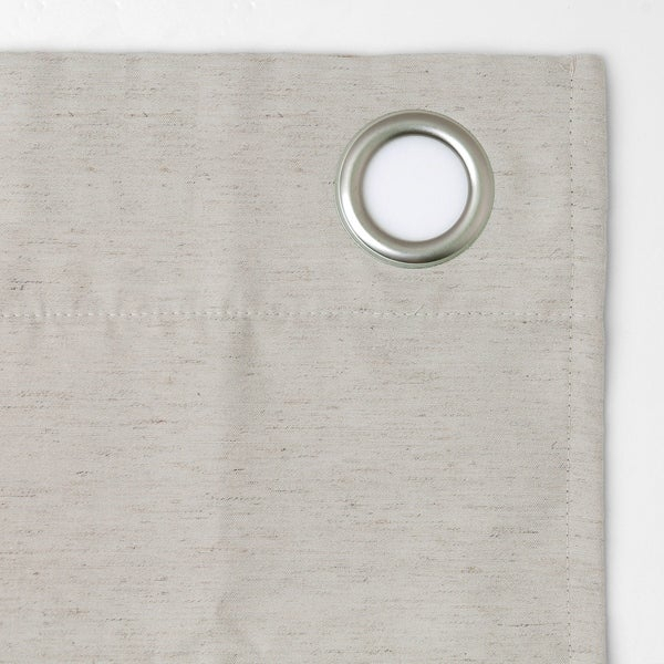 Archaeo Linen Blend Blackout Grommet Top Curtain Gray 52 X Intended For Archaeo Slub Textured Linen Blend Grommet Top Curtains (View 10 of 37)