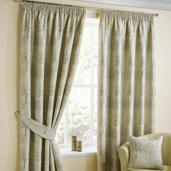 Arden Natural Pencil Pleat Curtains Intended For Solid Cotton Pleated Curtains (#1 of 50)