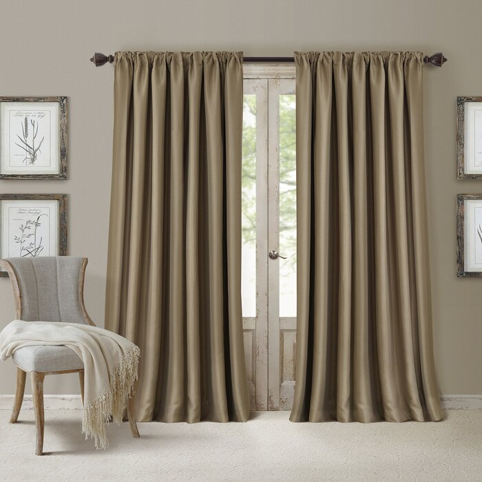 Ardmore Solid Blackout Single Curtain Panel For Single Curtain Panels (View 20 of 36)