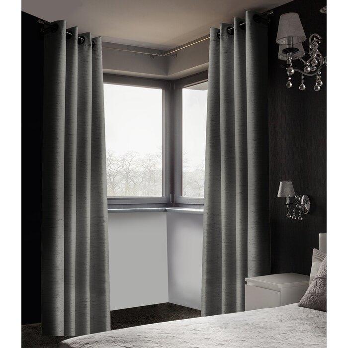 Arends Solid Room Darkening Thermal Grommet Curtain Panels With Regard To Grommet Room Darkening Curtain Panels (View 4 of 50)