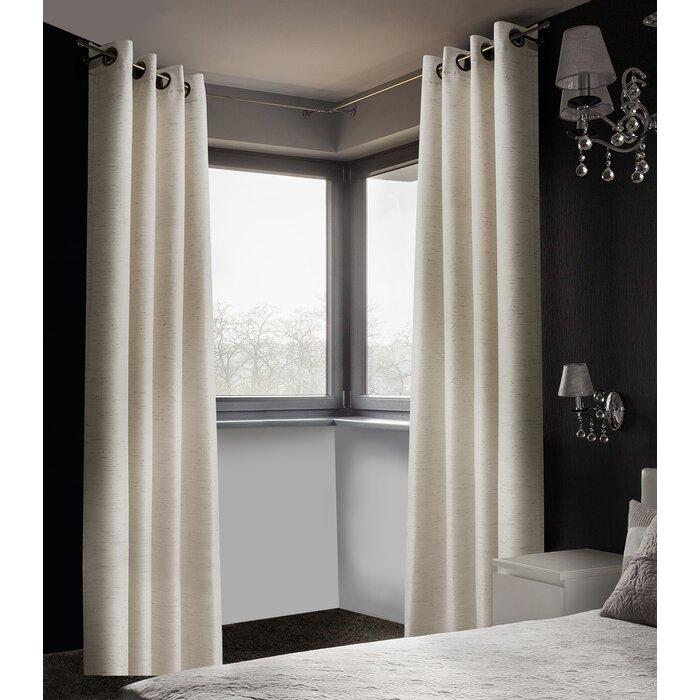 Arends Solid Room Darkening Thermal Grommet Curtain Panels Within Grommet Room Darkening Curtain Panels (View 5 of 50)