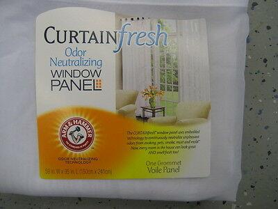 Arm And Hammer Curtain Fresh Odor Neutralizing Window Panel With Arm And Hammer Curtains Fresh Odor Neutralizing Single Curtain Panels (View 17 of 50)