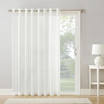 """Armin Sheer Voile 108"""" Grommet Extra Wide Door Curtain Panel Within Extra Wide White Voile Sheer Curtain Panels (View 4 of 50)"""