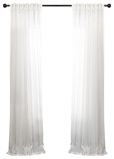 Aruba White Striped Linen Sheer Curtain Single Panel Pertaining To Montpellier Striped Linen Sheer Curtains (#3 of 50)