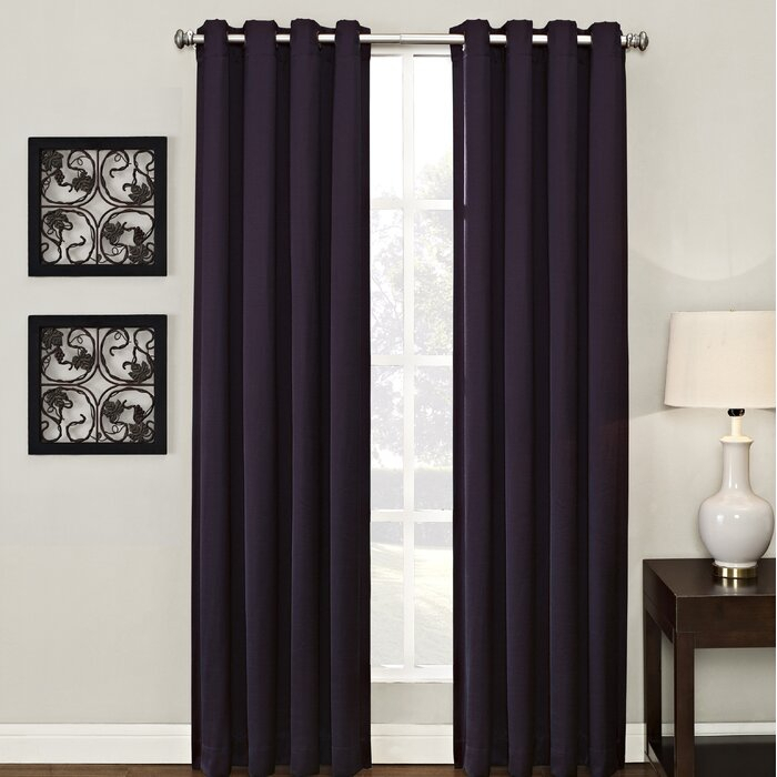 Ashton Lined Solid Room Darkening Grommet Single Curtain Panel For Lined Grommet Curtain Panels (#5 of 31)