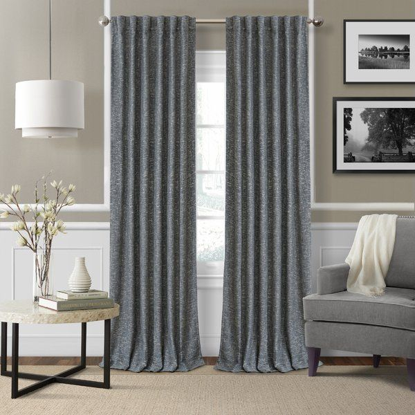 Aston Solid Room Darkening Thermal Rod Pocket Single Curtain Intended For The Gray Barn Kind Koala Curtain Panel Pairs (View 13 of 50)