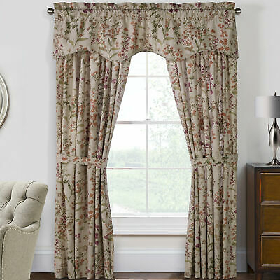 Astoria Grand Womack Floral Room Darkening Rod Pocket Curtain Panels Set Of  2   Ebay Pertaining To Floral Pattern Room Darkening Window Curtain Panel Pairs (View 4 of 44)