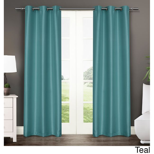 Ati Home Antique Satin Grommet Top 84 Inch Curtain Panel For Solid Grommet Top Curtain Panel Pairs (View 24 of 35)