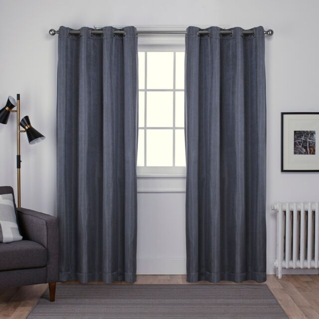 Ati Home Carling Basketweave Blackout Grommet Top Curtain Regarding Forest Hill Woven Blackout Grommet Top Curtain Panel Pairs (#5 of 45)