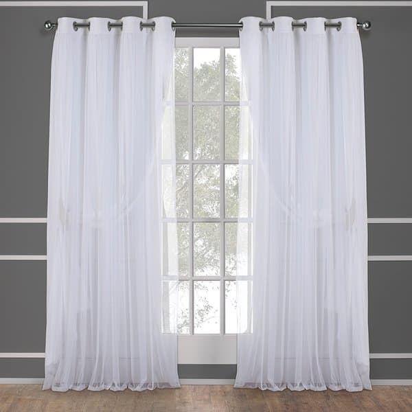 Ati Home Catarina Layered Curtain Panel Pair With Grommet In Elrene Aurora Kids Room Darkening Layered Sheer Curtains (View 5 of 40)