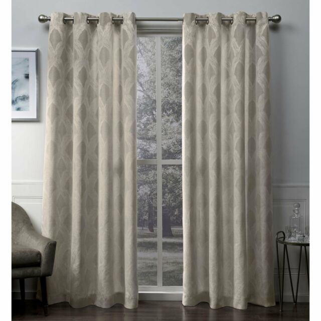 Ati Home Dorado Jacquard Grommet Top Curtain Panel Pair Intended For Forest Hill Woven Blackout Grommet Top Curtain Panel Pairs (#6 of 45)
