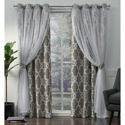 Ati Home Easton Thermal Woven Blackout Grommet Top Curtain Pertaining To Easton Thermal Woven Blackout Grommet Top Curtain Panel Pairs (#2 of 44)
