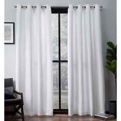 Ati Home Easton Thermal Woven Blackout Grommet Top Curtain Within Easton Thermal Woven Blackout Grommet Top Curtain Panel Pairs (#3 of 44)