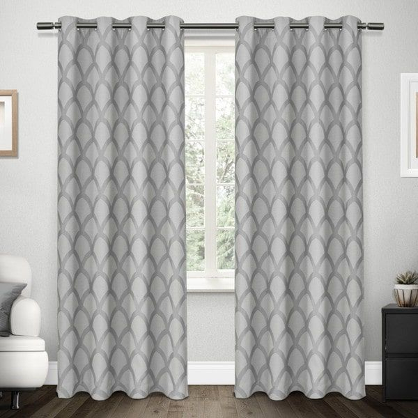 Popular Photo of Easton Thermal Woven Blackout Grommet Top Curtain Panel Pairs